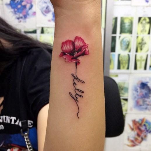 Flor con tallo Nombre