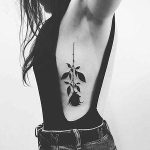 Rosa Negra invertida