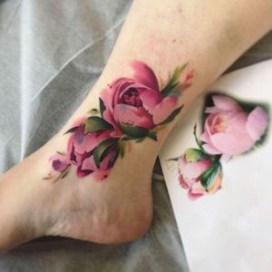 Flores Rosas realista