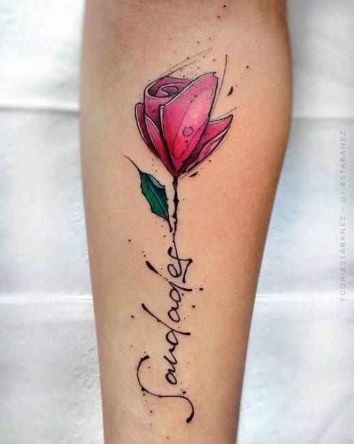 Frase: Saudade y Flor