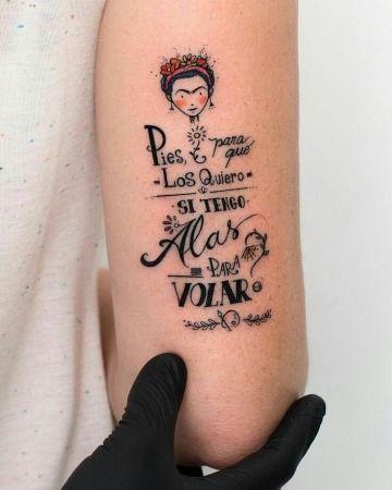 Frase: Pies para que los quiero si tengo alas para volar (Frida Kahlo) por Robson Carvalho