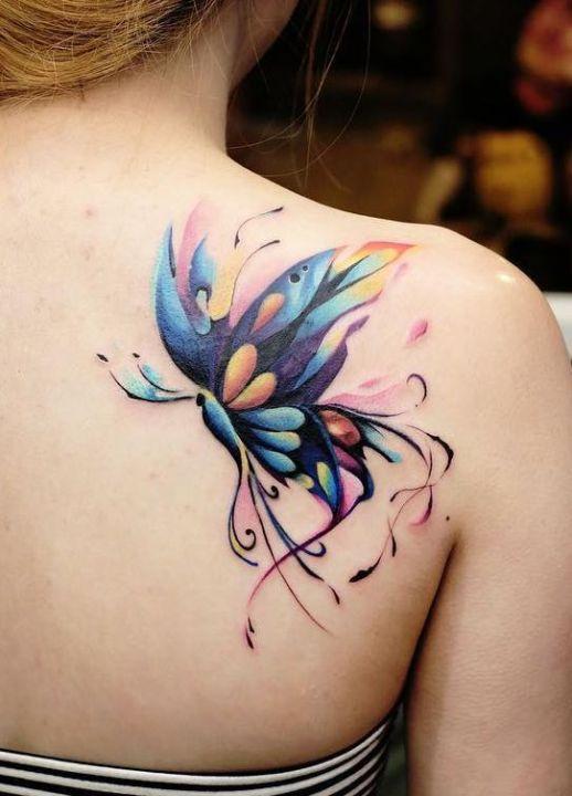 Mariposa multicolores