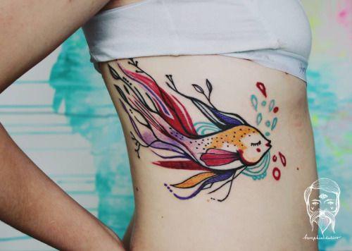 Pez Acuarelas por Bumpkin Tattoo