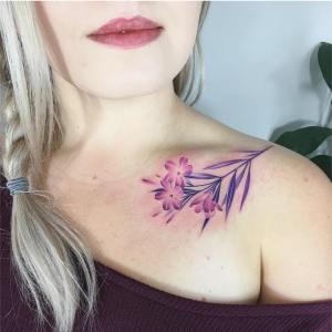 Ramito flores lilas