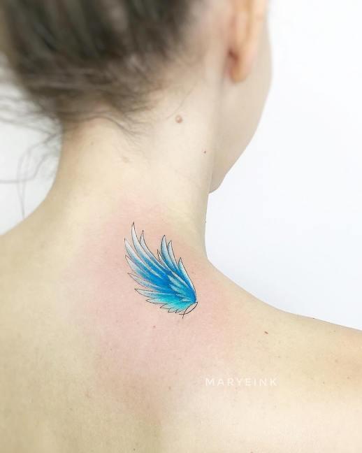 Ala azul por Maryeink