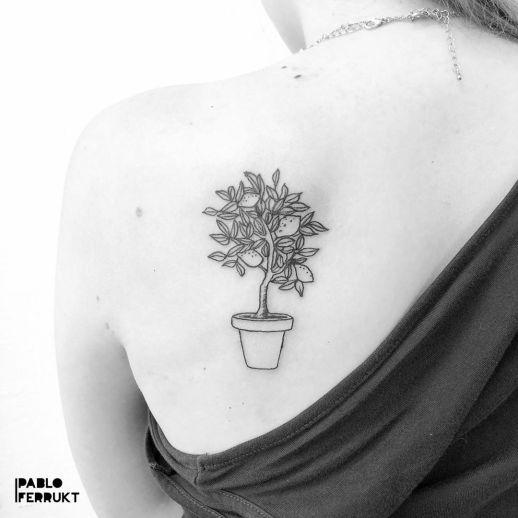 Árbol de limones por Pablo Ferrukt Tattoos