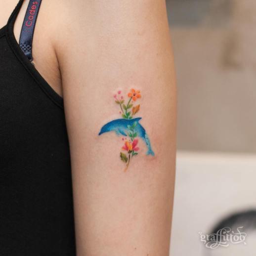 Delfín por Graffittoo Tattoo Studio