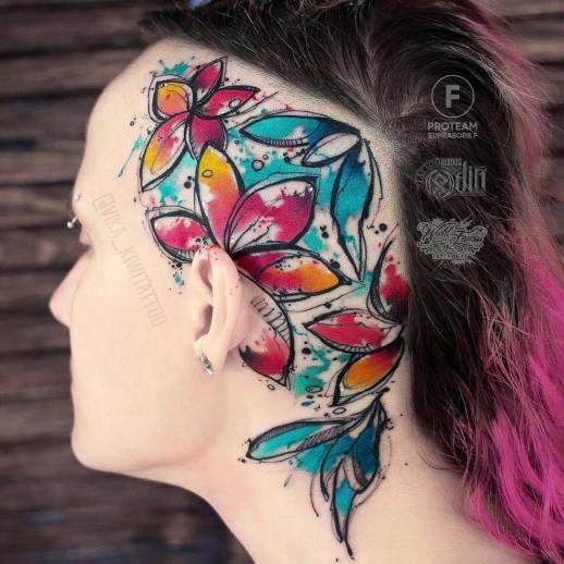 Flores por Вика Kiwi Tattoo
