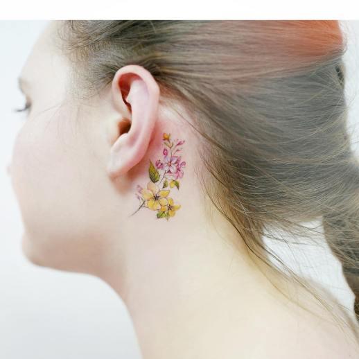 Flores por 타투이스트 바늘