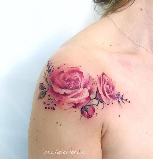 Flores rosas por Michele Mercuri