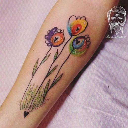 Flores silvestres por Bumpkin Tattoo