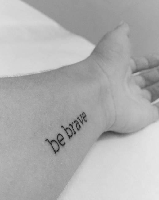 Frase: Be brave por Lucas Halmont