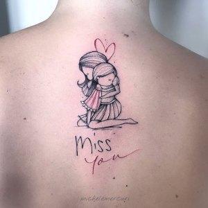 Frase: Miss you, Mamá e Hija por Michele Mercuri