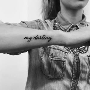 Frase: My darling por Hector Daniels