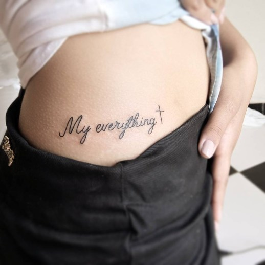 Frase: My everything y Cruz