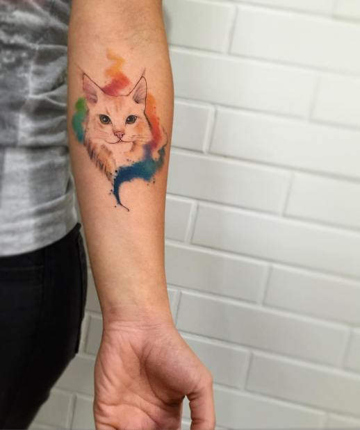 Gato por LCjunior Tattoo