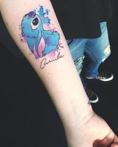Nombre: Camila junto a Stitch
