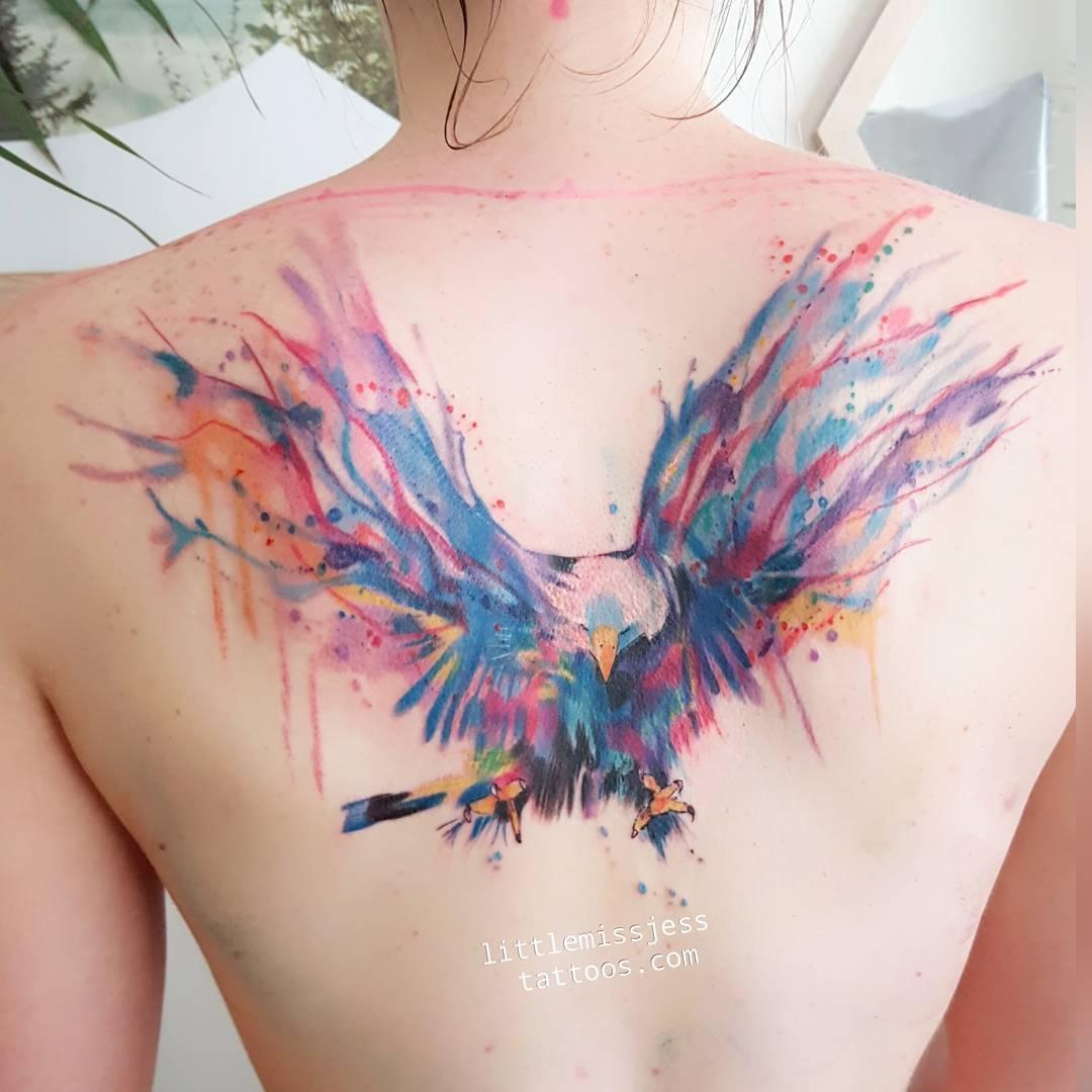 Aguila En La Espalda Águila por jess hannigan - tatuajes para mujeres
