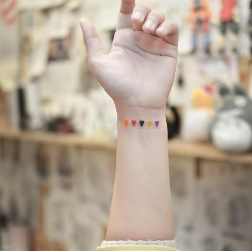 Corazones pequeños por Tattooist Grain