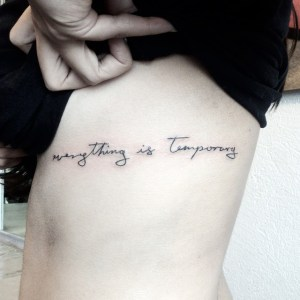 Frase: Everything is temporary por Pablo Díaz Gordoa