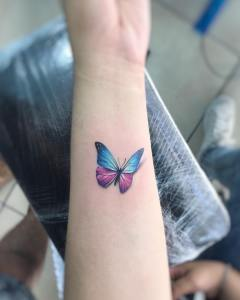 Mariposa estilo 3D por Adrian Bascur