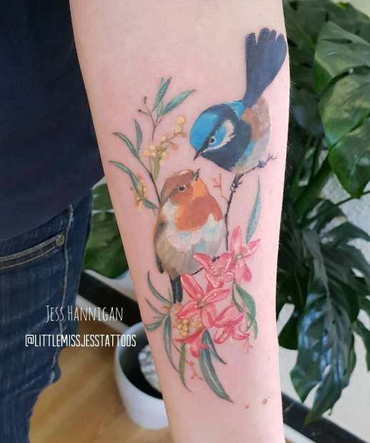 Aves enamoradas por Jess Hannigan