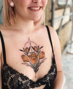Flores tulipanes por Jen Tonic