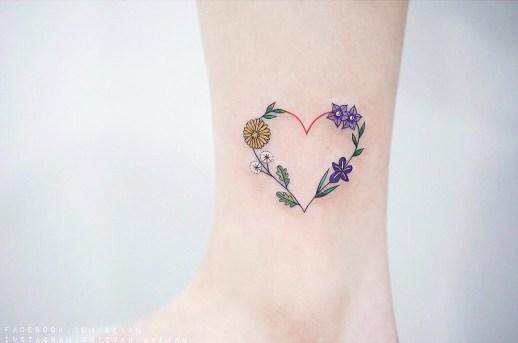 Corazón con flores por Seyoon Kim