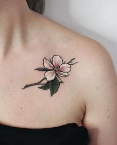 Flor de cerezo por Olga Nekrasova