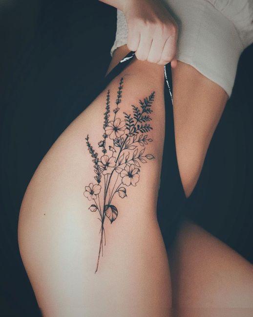 Ramillete de flores por Valery Tattoo