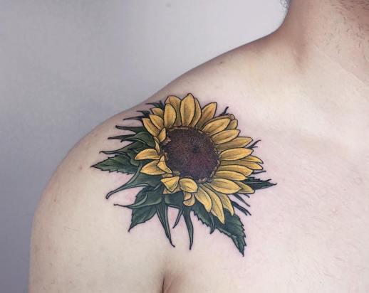 Flor de Girasol por Olga Nekrasova