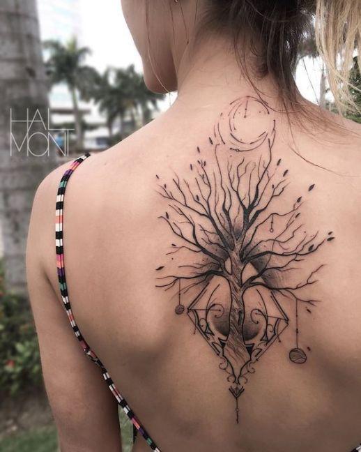 Árbol con raíces por Halmont