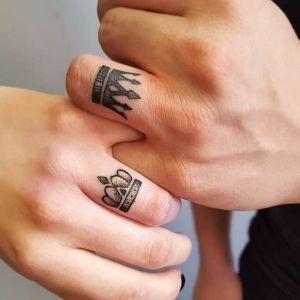 Corona estilo anillo para pareja