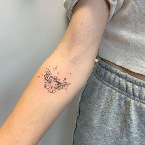 Ángel de la guarda por JK KIM Tattoo