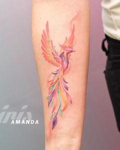 Ave Fénix por Amanda Iris Tattoo