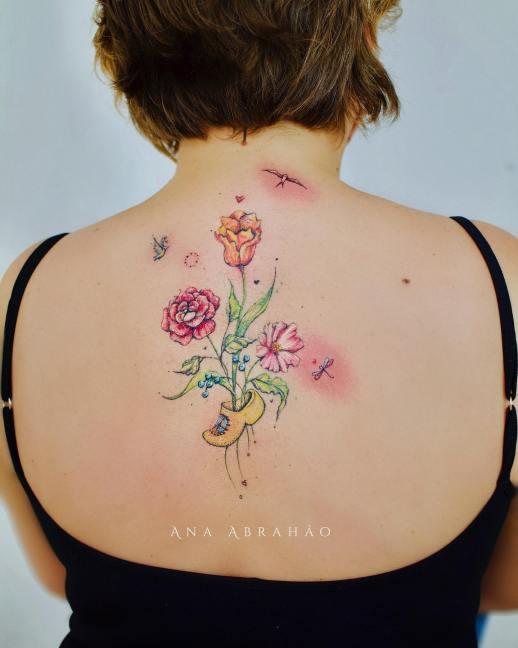Zueco florecido por Ana Abrahão