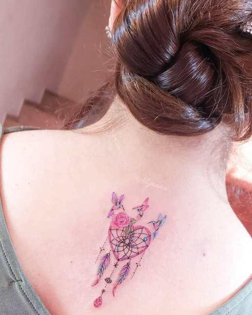 Atrapasueños con Colibríes por Alynana Tattoos