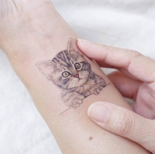 Gatito tierno por Mini Tattoo