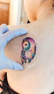 Lechuza por Alynana Tattoos