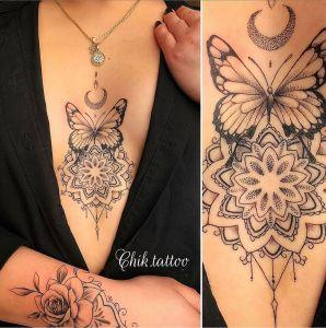 Mariposa Mandala por Steve Savard, Chik Tattoo
