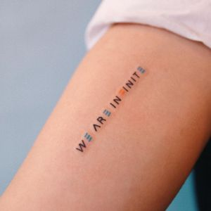 Frase: We are infinite por Naone, Take my Muse