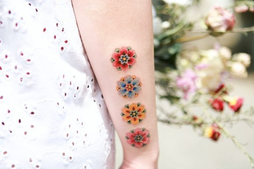 Cuatro Dancheongs por Tattooist Sion