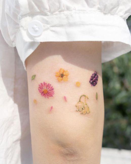 Florecillas pequeñas por Studio by Sol, Tilda