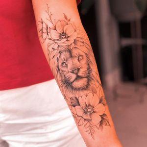 León y Flores por Milton Reis