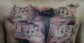 tatuaje pasión música