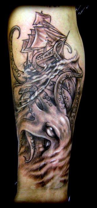 Tatuaje Kraken