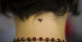 Tatoo heart neck