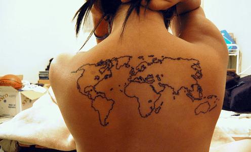 tattoo mapamundi