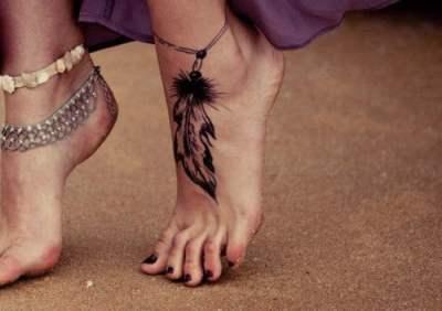 tatuaje en el pie