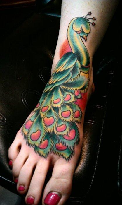 tatuaje en el pie para mujer